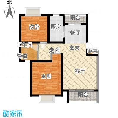 景宏嘉园95.00㎡房型: 二房; 面积段: 95 -102 平方米; 户型