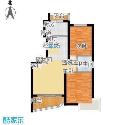 上南春天苑88.00㎡房型: 二房; 面积段: 88 -101 平方米;户型