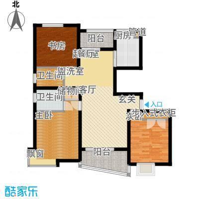 上南春天苑115.00㎡房型: 三房; 面积段: 115 -126 平方米; 户型