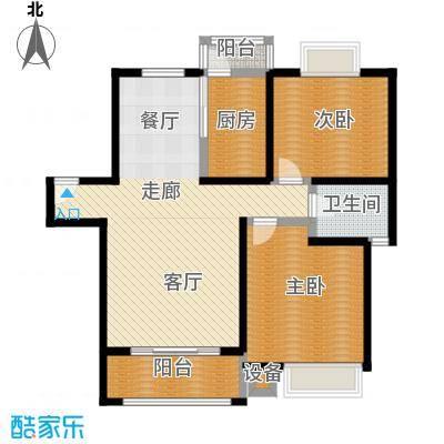 恒大翰城四期96.29㎡房型: 二房; 面积段: 96.29 -99.25 平方米; 户型