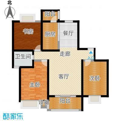 恒大翰城四期114.70㎡房型: 三房; 面积段: 114.7 -127.35 平方米; 户型