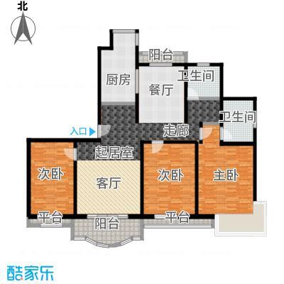 东方异彩120.00㎡房型: 三房; 面积段: 120 -155 平方米; 户型