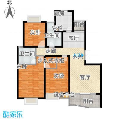 爱家亚洲花园房型: 三房; 面积段: 108 -125 平方米; 户型