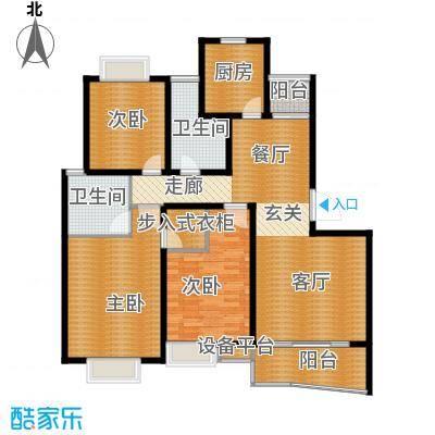 爱家亚洲花园136.00㎡房型: 三房; 面积段: 136 -147 平方米; 户型