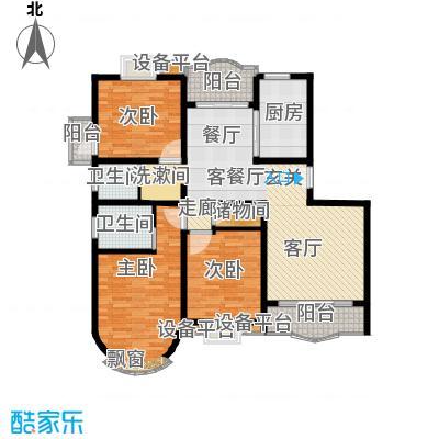 丽苑金桥一景房型: 三房; 面积段: 102 -140.23 平方米; 户型