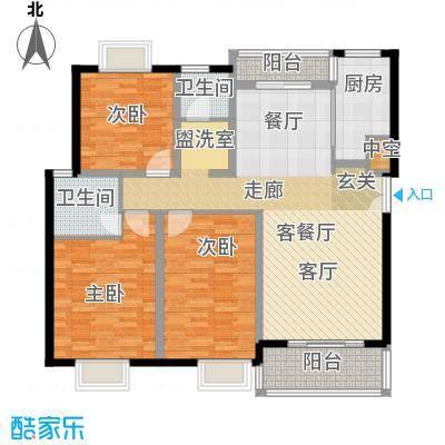 叠翠上南125.25㎡房型: 三房; 面积段: 125.25 -133.55 平方米; 户型