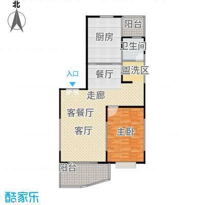 新世纪名苑58.55㎡房型: 一房; 面积段: 58.55 -96.39 平方米;户型