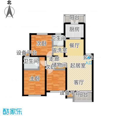 丰舍东苑88.00㎡房型: 三房; 面积段: 88 -118 平方米; 户型
