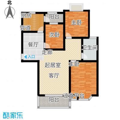 莘闵荣顺苑117.56㎡房型: 三房; 面积段: 117.56 -128.95 平方米; 户型