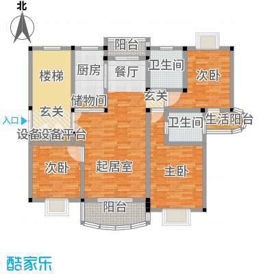 明丰世纪苑118.39㎡房型: 三房; 面积段: 118.39 -123.44 平方米; 户型