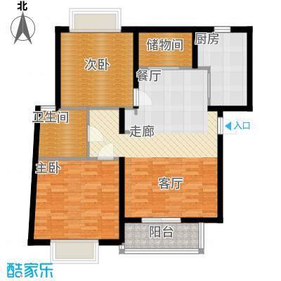 江南清漪园89.00㎡房型: 二房; 面积段: 89 -95 平方米; 户型