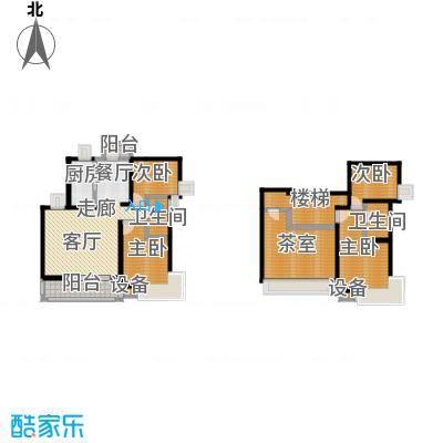 恒大翰城四期136.43㎡房型: 复式; 面积段: 136.43 -187.29 平方米; 户型