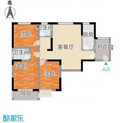 金海花园知寓125.18㎡金海花园知寓户型图A户型3室2厅2卫1厨户型3室2厅2卫1厨