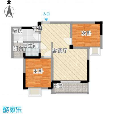 银领时代87.61㎡银领时代户型图F22室2厅1卫户型2室2厅1卫