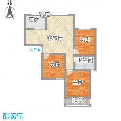 金海花园知寓114.19㎡金海花园知寓户型图AB座3室2厅1卫1厨户型3室2厅1卫1厨