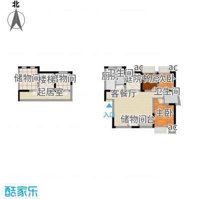 天目国际公馆天目国际公馆户型图20080805D-1户型(售完)3室2厅2卫1厨户型3室2厅2卫1厨