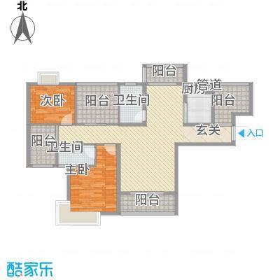景隆现代城116.97㎡景隆现代城户型图F户型2室2厅2卫1厨户型2室2厅2卫1厨