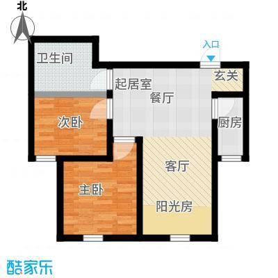 福顺尚景59.80㎡福顺尚景户型图3号楼户型图2室1厅1卫1厨户型2室1厅1卫1厨