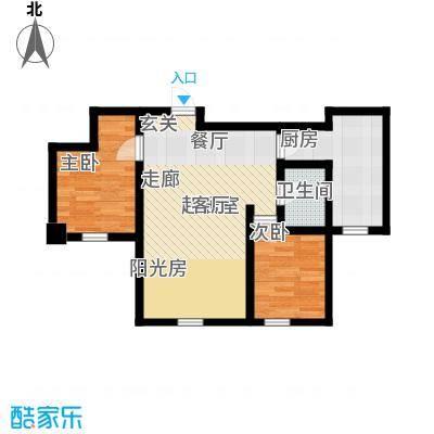 福顺尚景57.31㎡福顺尚景户型图4号楼户型图2室1厅1卫1厨户型2室1厅1卫1厨