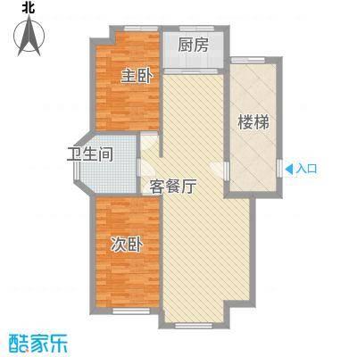 龙畔金泉99.64㎡龙畔金泉户型图一期户型幸福一生2室2厅1卫1厨户型2室2厅1卫1厨