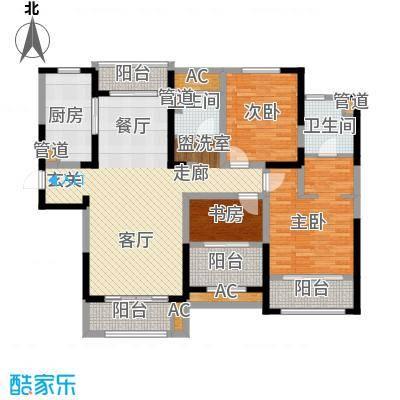 华润置地橡树湾130.00㎡华润置地橡树湾户型图33#、35#、43#、48#、52#楼C3户型3室2厅2卫1厨户型3室2厅2卫1厨