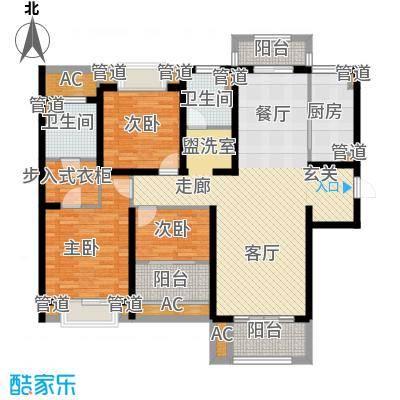华润置地橡树湾130.00㎡华润置地橡树湾户型图39#、40#楼A户型3室2厅2卫1厨户型3室2厅2卫1厨
