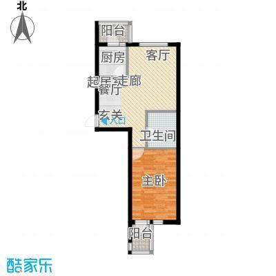 水映西山65.99㎡水映西山户型图A41室2厅1卫户型1室2厅1卫