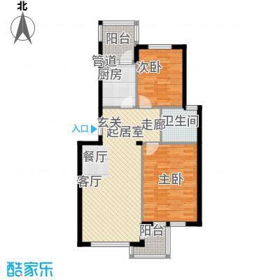 水映西山89.86㎡水映西山户型图B32室2厅1卫1厨户型2室2厅1卫1厨