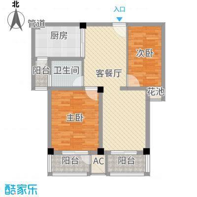 恒天新世界95.00㎡恒天新世界户型图19-2#c-2户型2室2厅1卫1厨户型2室2厅1卫1厨