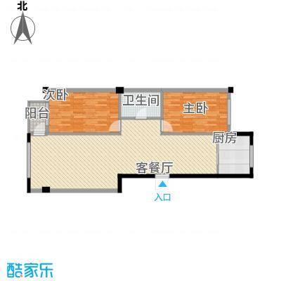 八一新居105.00㎡八一新居户型图两室两厅2室2厅1卫1厨户型2室2厅1卫1厨