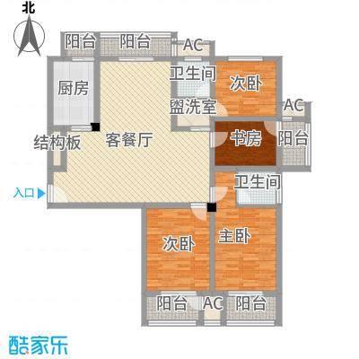 恒天新世界168.80㎡恒天新世界户型图19-2#e户型4室2厅1卫1厨户型4室2厅1卫1厨