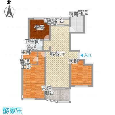 江城逸品139.72㎡江城逸品户型图12#F-13室2厅2卫1厨户型3室2厅2卫1厨