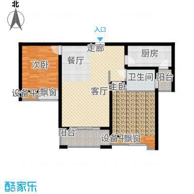 海悦国际94.99㎡海悦国际户型图1、2#G户型2室2厅1卫1厨户型2室2厅1卫1厨