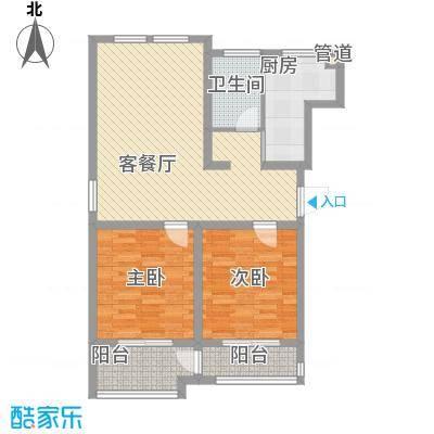 江风海韵104.00㎡江风海韵户型图平层唯美两房2室2厅1卫2室2厅1卫1厨户型2室2厅1卫1厨