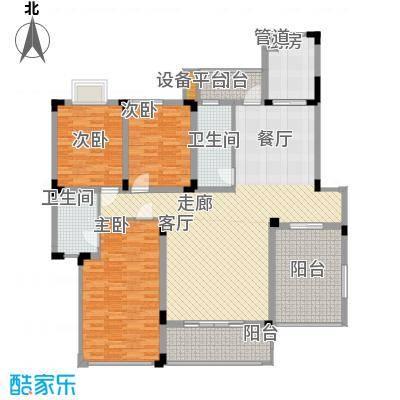 金鼎名城146.53㎡金鼎名城户型图H3户型3室2厅2卫1厨户型3室2厅2卫1厨