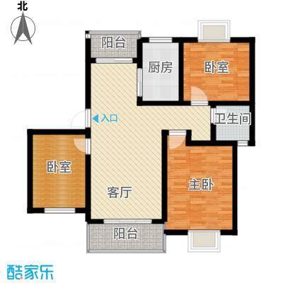 恒盛泰晤士印象108.00㎡8#、9#、15#楼C2户型1室1厅1卫1厨