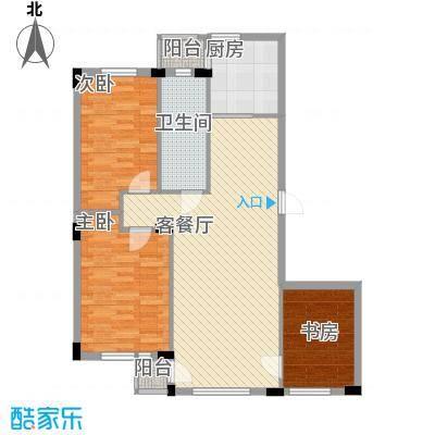 鹏辉裕景轩裕景轩3室户型3室2厅1卫1厨