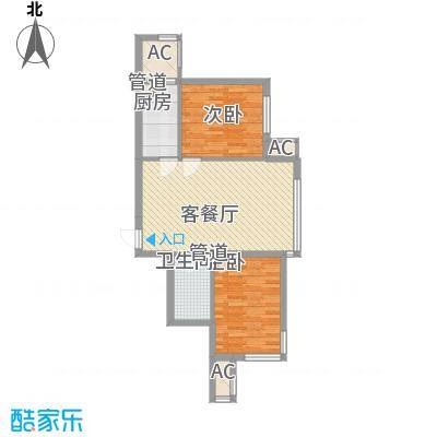 安邦阳光润城408158652300户型2室1厅1卫1厨