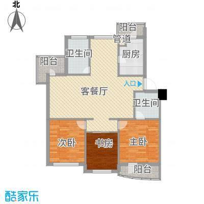 山水鑫苑125.00㎡7号楼C户型3室2厅2卫1厨