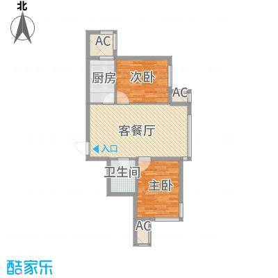 甘井子安邦阳光润城85.60㎡54#、55#、56#B2户型2室2厅1卫1厨