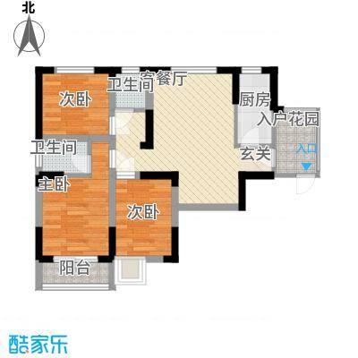 金海花园知寓74.86㎡金海花园知寓户型图青春空间C户型3室2厅1卫1厨户型3室2厅1卫1厨