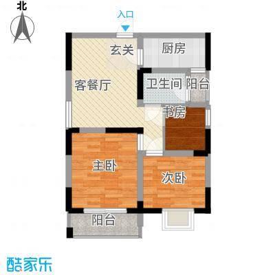 金海花园知寓74.86㎡金海花园知寓户型图C户型3室2厅1卫1厨户型3室2厅1卫1厨