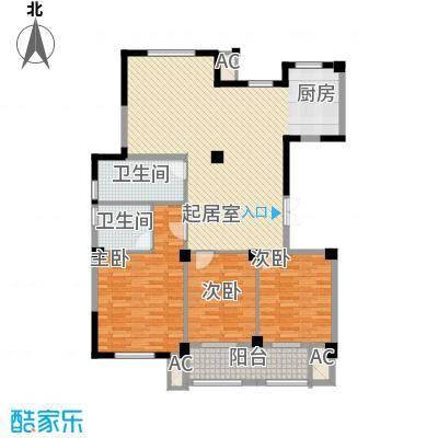 万家富142.00㎡万家富户型图D1户型3室2厅2卫1厨户型3室2厅2卫1厨