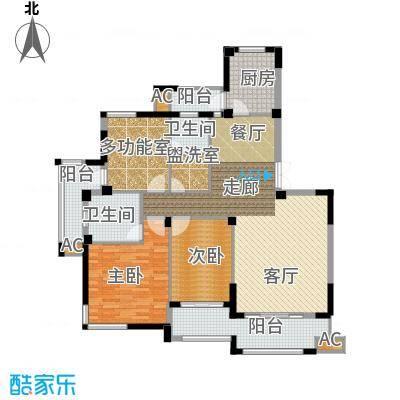 海棠湾花园135.51㎡海棠湾花园户型图小高层DY-H3室2厅2卫1厨户型3室2厅2卫1厨