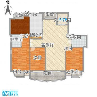 蟠龙湾190.00㎡蟠龙湾户型图高层F户型4室2厅2卫1厨户型4室2厅2卫1厨