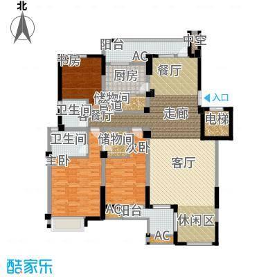 海棠湾花园155.88㎡海棠湾花园户型图洋房HY-D3室3厅2卫1厨户型3室3厅2卫1厨