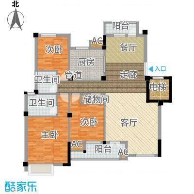 海棠湾花园136.90㎡海棠湾花园户型图洋房HY-H3室2厅2卫1厨户型3室2厅2卫1厨