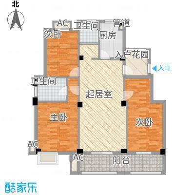 丽景花园138.00㎡丽景花园户型图标准层D户型3室2厅2卫1厨户型3室2厅2卫1厨