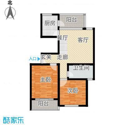 江阴外滩名门95.00㎡江阴外滩名门户型图T户型(8#楼)2室1厅1卫1厨户型2室1厅1卫1厨
