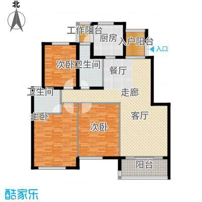 江阴外滩名门142.00㎡江阴外滩名门户型图L户型(5#、6#楼)3室2厅2卫1厨户型3室2厅2卫1厨